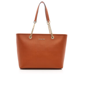 MICHAEL MICHAEL KORS Women's Jet Set Travel Chain Top Zip Tote Bag - Orange