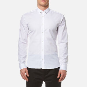 HUGO Men's Ero3 Long Sleeve Shirt - Open White
