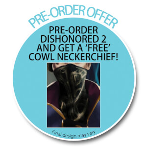 Dishonored 2 Pre-Order Sticker Cowl