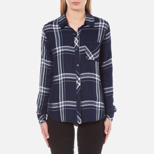 Rails Women's Hunter Shirt - Admiral/White