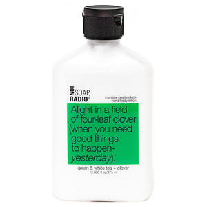 Not Soap Radio Alight in a field of four-leaf clover (when you need good things to happen- yesterday) Hand/Body Lotion 375ml