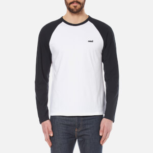 AMI Men's Long Sleeve Raglan T-Shirt - White/Navy