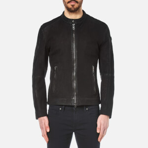 BOSS Orange Men's Jonate Leather Jacket - Black