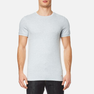 BOSS Orange Men's Tayn Textured T-Shirt - Light Pastel Blue