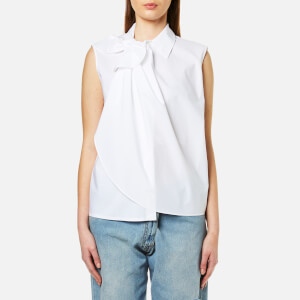 MM6 Maison Margiela Women's Tie Neck Detail Sleeveless Shirt - White