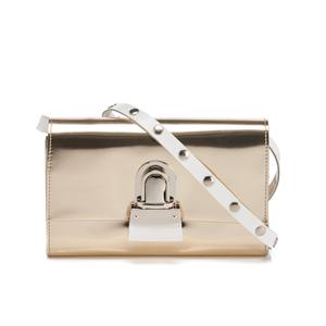 MM6 Maison Margiela Women's Fold Over Cross Body Bag - Platinum Gold