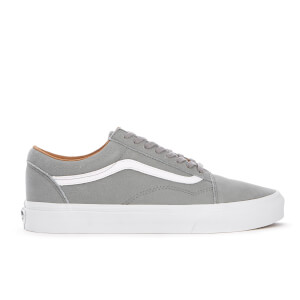Vans Men's Old Skool Premium Leather Trainers - Wild Dove/True White