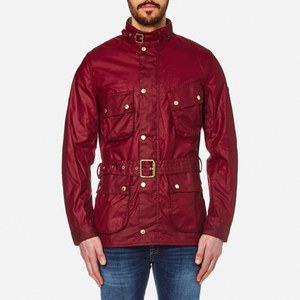 Barbour International Men's Gauging Wax Jacket - Red