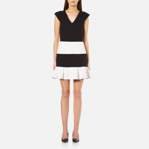 Boutique Moschino Women's Block Colour Flared Dress - Black