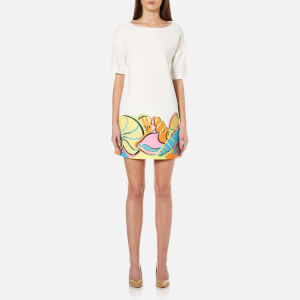 Boutique Moschino Women's Printed Shift Dress - White
