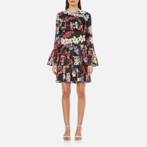 MSGM Women's Floral Dress - Black