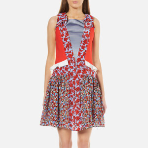 MSGM Women's Floral Rose Dress - Red/Multi