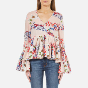 MSGM Women's Floral Blouse - Pink