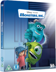 Monsters, Inc. 3D (Includes 2D Version) - Zavvi Exclusive Lenticular Edition Steelbook (Edición Reino Unido)