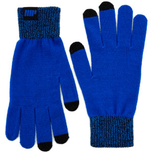 Knitted Gloves – Blå