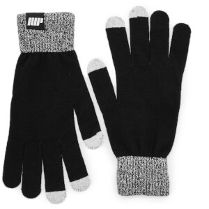 Knitted Gloves – Svart