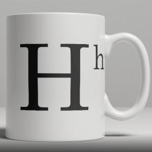 Alphabet Keramik Designer Tasse - Buchstabe H