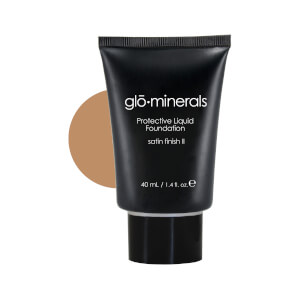 glominerals gloProtective Liquid Foundation Satin II - Golden-Dark