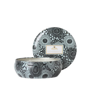 Voluspa Japonica Black 3 Wick Decorative Tin Candle - French Cade & Lavender