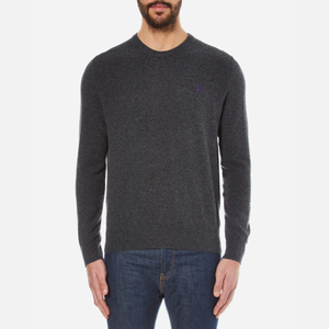Polo Ralph Lauren Men's Crew Neck Merino Wool Knitted Jumper - Charcoal Marl