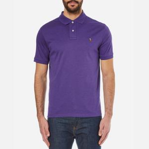 Polo Ralph Lauren Men's Custom Fit Pima Cotton Polo Shirt - Saranac Purple