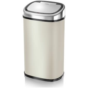 Tower Square Sensor Bin 58L - Almond