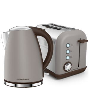 Morphy Richards Accents Kettle and Toaster Bundle - Pebble