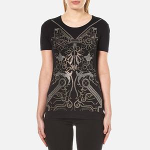 Versace Jeans Women's Printed T-Shirt - Black