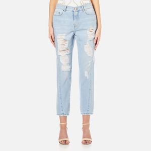 Versace Jeans Women's Distressed Jeans - Indigo