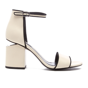 Alexander Wang Women's Abby Block Heeled Two Part Sandals - Bone