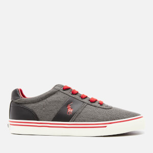 Polo Ralph Lauren Men's Hanford Vintaged Cotton Trainers - Black