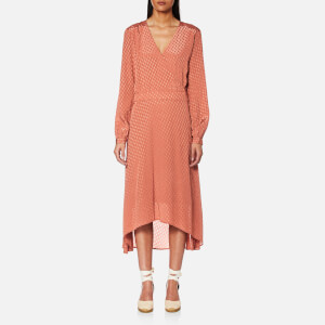 Gestuz Women's Nete Jacquard Satin Dress - Canyon Rose