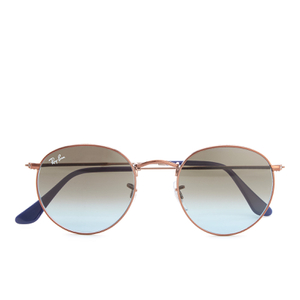 Ray-Ban Round Flat Lenses Gold Frame Sunglasses - Gold/Pink Gradient
