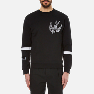 McQ Alexander McQueen Men's Clean Crew Neck Swallow Sweatshirt - Darkest Black