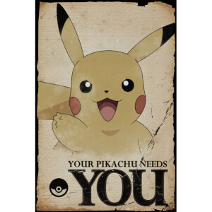 Pokemon Pikachu Needs You Maxi Poster - 61 x 91.5cm