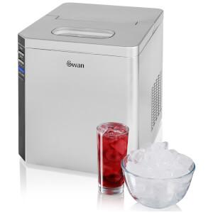Swan SIM100 Ice Cube Maker - Silver