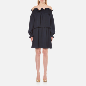 Diane von Furstenberg Women's Georgie Off the Shoulder Dress - Deep Night