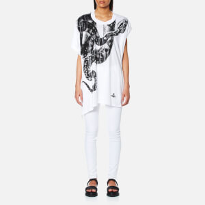 Vivienne Westwood Anglomania Women's Snake Squiggle T-Shirt - White