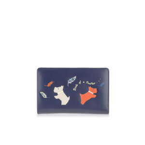 Radley Women's Birds of a Feather Medium Zip Purse - Navy