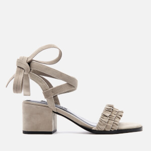 Senso Women's Juno Suede Frill Heeled Sandals - Dove