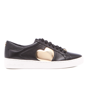 MICHAEL MICHAEL KORS Women's Keaton Heart Leather Trainers - Black