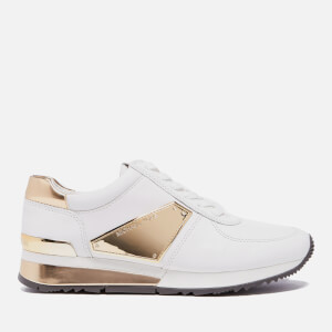 MICHAEL MICHAEL KORS Women's Allie Plate Wrap Leather Trainers - Optic White