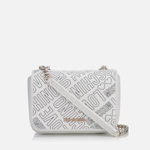 Love Moschino Women's Love Mini Printed Shoulder Bag - White