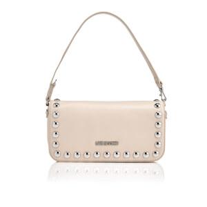 Love Moschino Women's Studs Mini Shoulder Bag - Beige