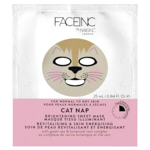 Mascarilla iluminadora Cat Nap FACEINC by nails inc. - Revitalizante y energizante del cutis