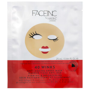 Máscara de Tecido Anti-idade 40 Winks FACEINC by nails inc. - Reafirmante e Iluminadora