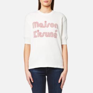 Maison Kitsuné Women's Striped T-Shirt - Latte