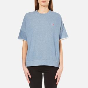 Maison Kitsuné Women's Japanese Sweatshirt - Blue