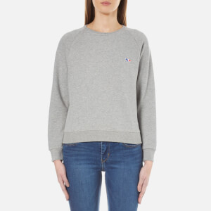 Maison Kitsuné Women's Fox Patch Sweatshirt - Grey Melange