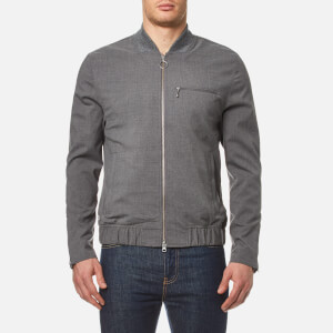 Lacoste L!ve Men's Flannel Bomber Jacket - Light Grey Jaspe